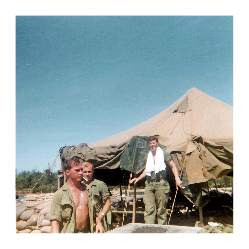 JM44: Philip Dodds (LA), Norman Walter, and Don 'Daddy' Hammett in basecamp