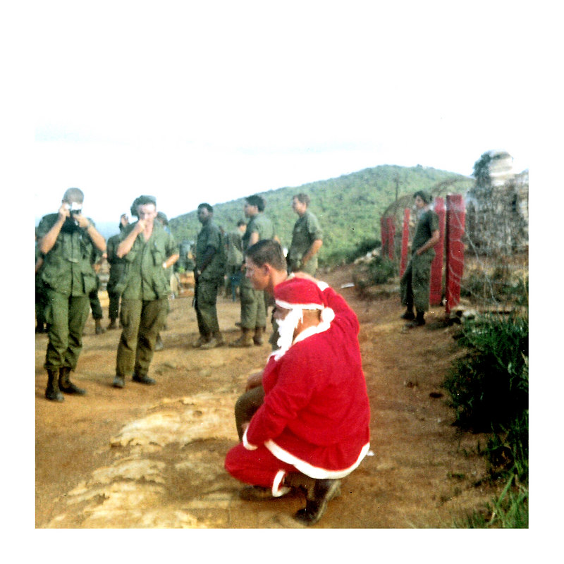 JM84: A group of 4th Platoon grunts with Santa in 1968. Note Santa's jungle boots