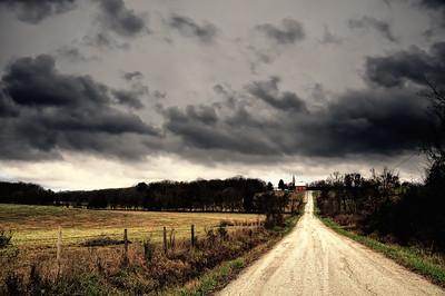 The road to St. Jordan's of Beaufort, MO.