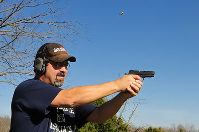 The old man shooting the RIA 45 auto