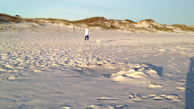 Chris & Spencer on the beach.