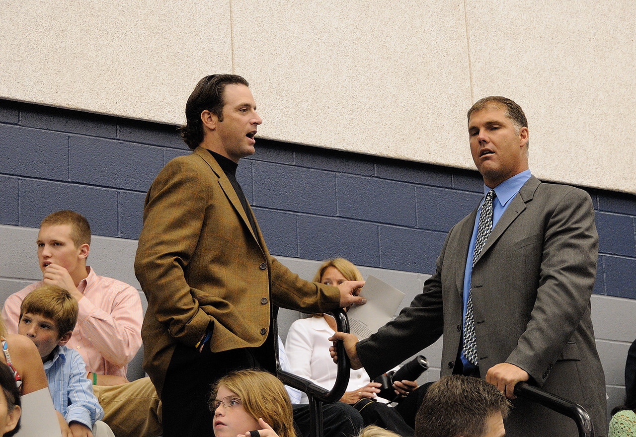 Former Cardinal pitcher Andy Benes and catcher Mike Matheny both had children graduating.