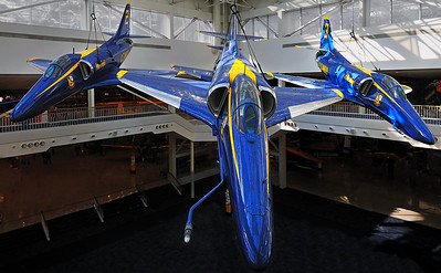 The Blue Angels display at the Naval Aviation Museum in Pensacola, FL.
