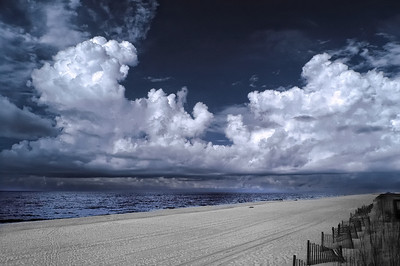 Morning Storm on the Beach June 3, 2010 Captured with an infrared-converted Nikon D70s.