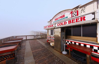 Foggy Pier.  The Pier at Pensacola beach on a foggy morning.