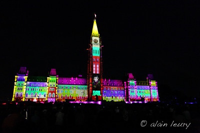 Mosaika Sound and Light Show on Parliament Hill ottawa ontario canada