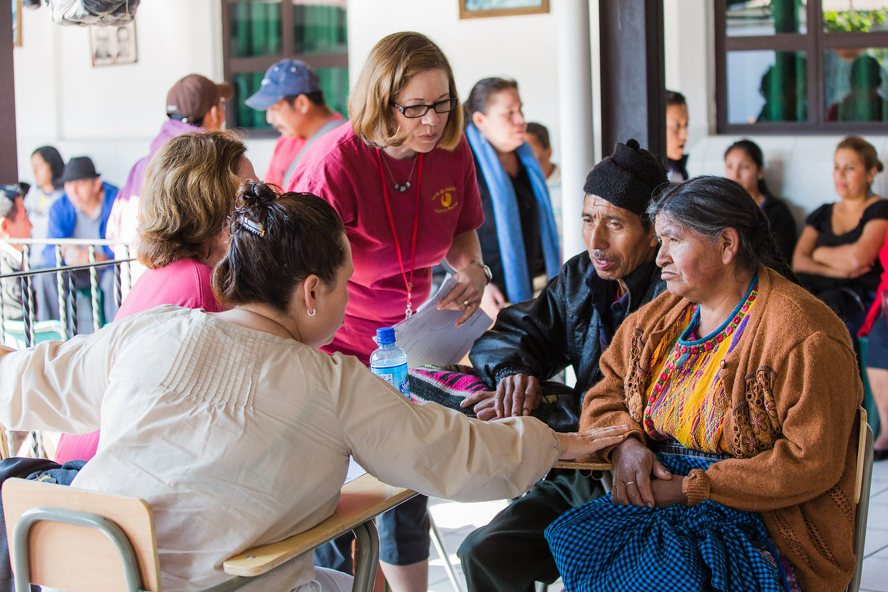 Translators are available to translate from the patients native language (often a Mayan or Amerindian dialect) to Spanish and finally to English. Photographed on assignment for Portland Magazine.