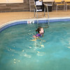 Mia Rose swimming at the Fairfield Inn & Suites by Marriott Columbus OSU during our Christmas trip to COSI in Columbus, OH.  December 31, 2017.  (J. Alex Wilson)