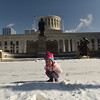 Mia Rose in front of the Ohio Statehouse during our Christmas trip to COSI in Columbus, OH.  December 31, 2017.  (J. Alex Wilson)