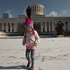 Mia Rose in front of the Ohio Statehouse in Columbus, OH.  December 31, 2017.  (J. Alex Wilson)