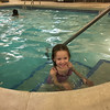 Mia Rose swimming at the Fairfield Inn & Suites by Marriott Columbus OSU during our Christmas trip to COSI in Columbus, OH.  December 30, 2017.  (J. Alex Wilson)