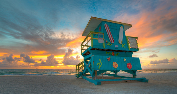 Miami Beach Life Guard Towers