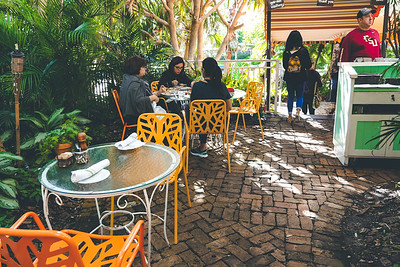 Peacock Garden Café - Coconut Grove, outdoor seating