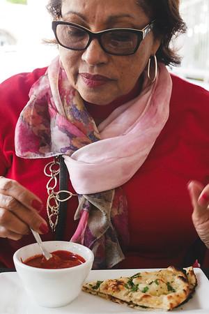 Chiken tikka masala and garlic naan at Saffron @ grove Restaurant