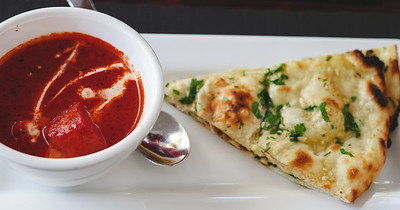 Chicken Tikka Masala and Garlic Naan