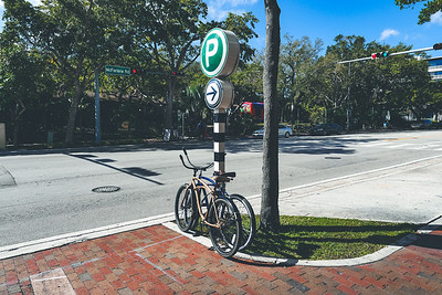 Bicycles on the sidewalk - Coconut Grove