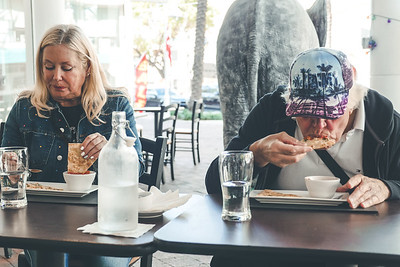 Eating naan and chicken tikka at Saffron @ grove Restaurant