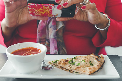 Taking a photo of Chicken Tikka Masala and Garlic Naan II