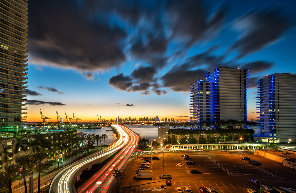 Miami Sunset by Jean