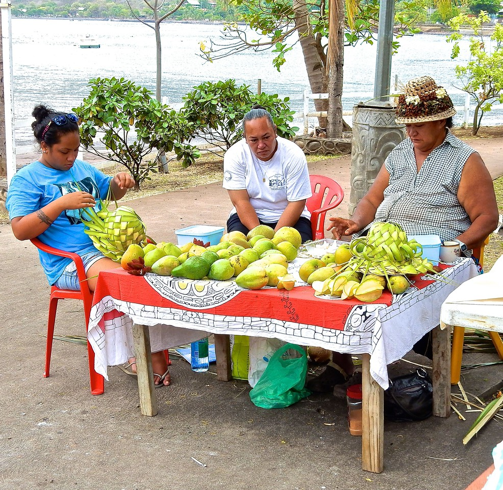 Fruit Sellers, Nuku Hiva, French Polynesia