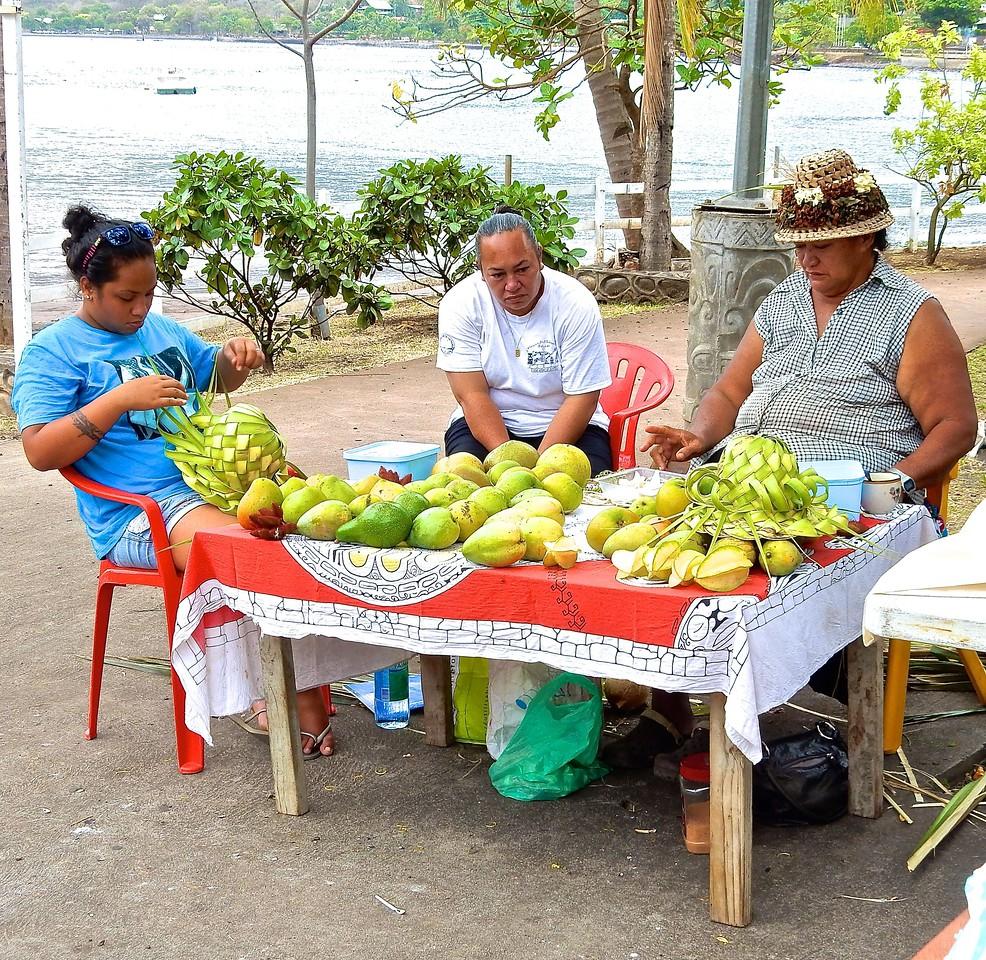 Fruit Sellers, Nuku Hiva, French Polynesia