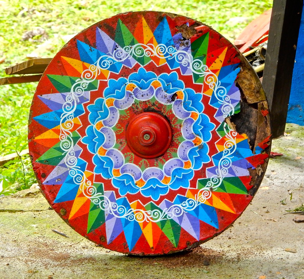 Costa Rican Ox Cart Wheel