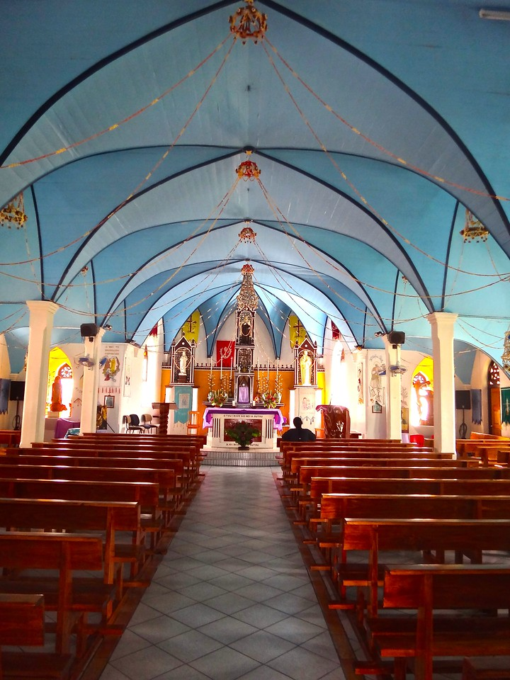 Church Interior, Fakarava Atoll, French Polynesia