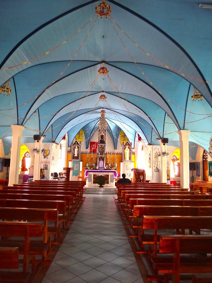 Church Interior, Fakarava Atoll, French Polynesia