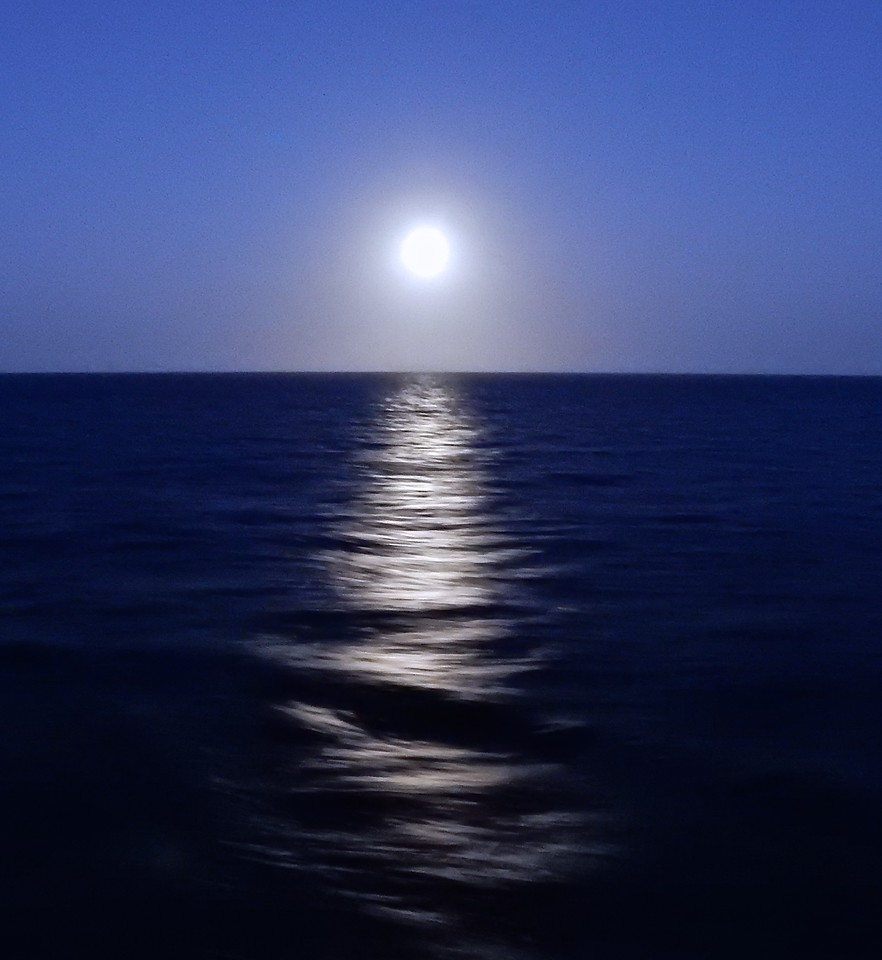 Full Moon over the Caribbean