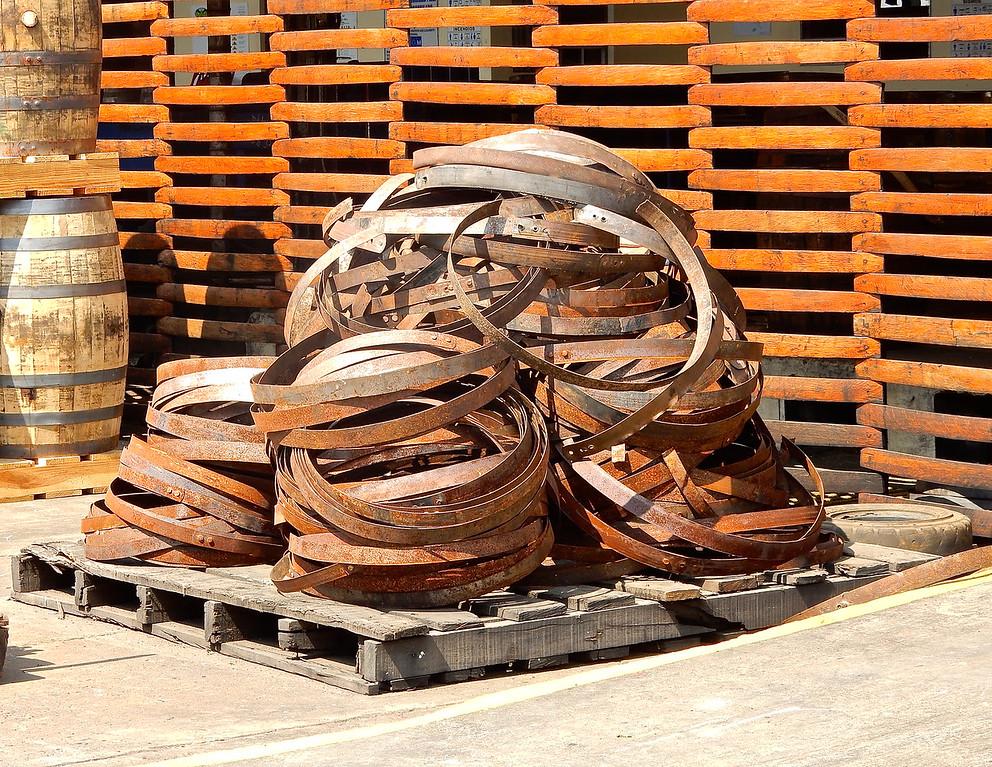Rum Barrel Hoops, Flor de Cana Rum Factory, Nicaragua