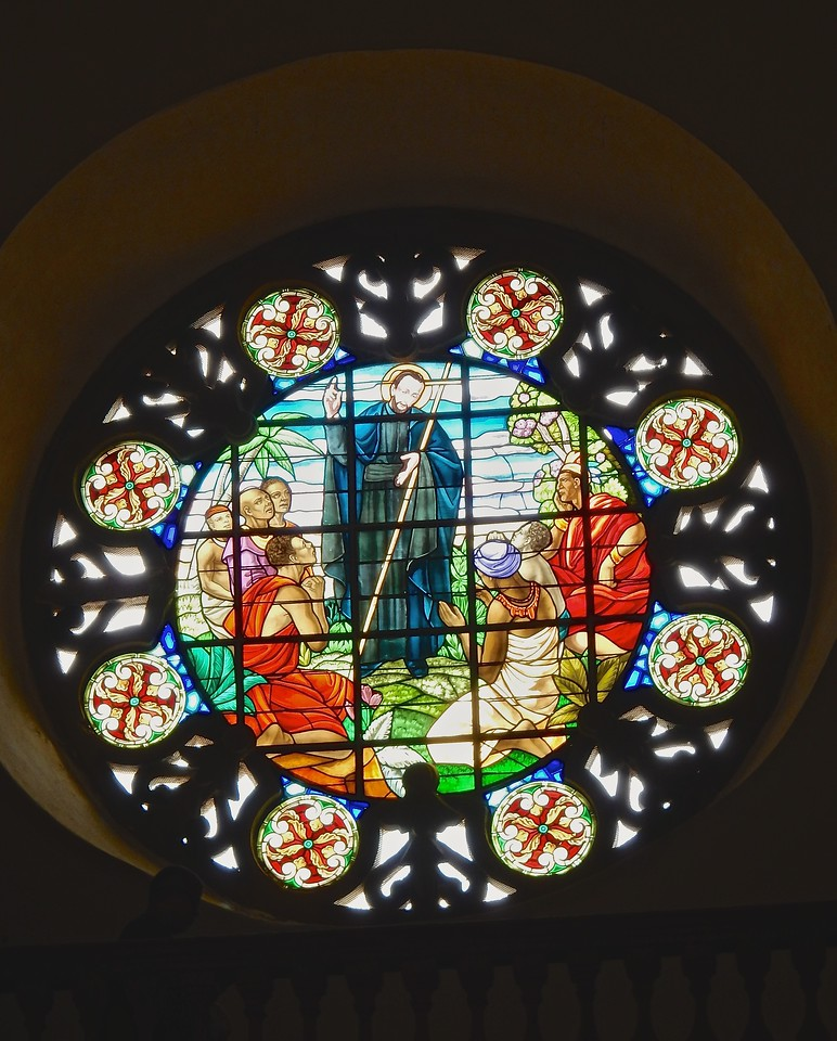 Stained Glass Window, Peter Claver church, Cartagena