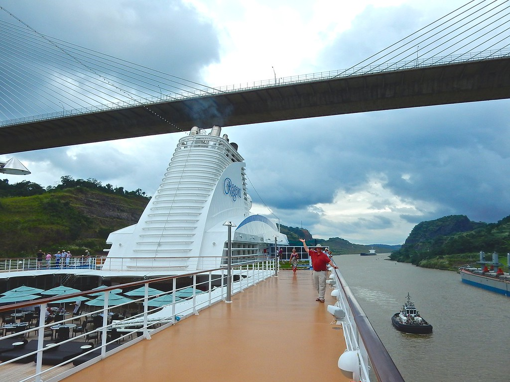 Passing Under the Centennial Bridge, Panama Canal