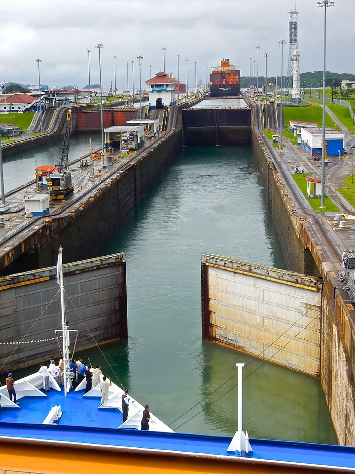 Entering the Locks, Panama Canal