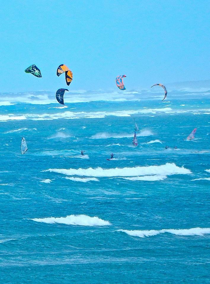 Kite Boarders, Maui, Hawaii