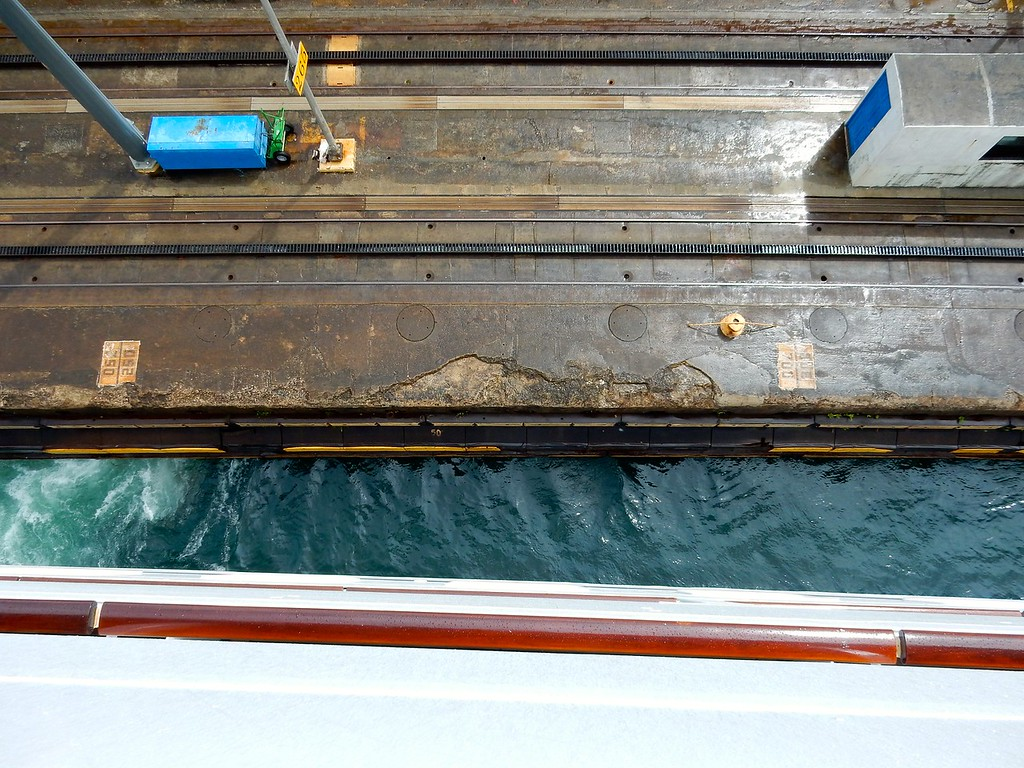 Clearance, Panama Canal Locks