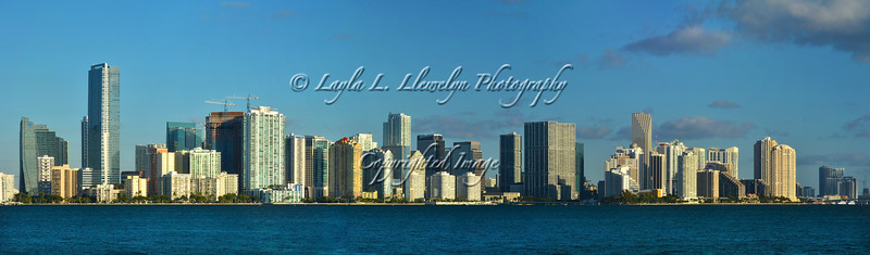 Panorama of the Miami Skyline at Sunrise