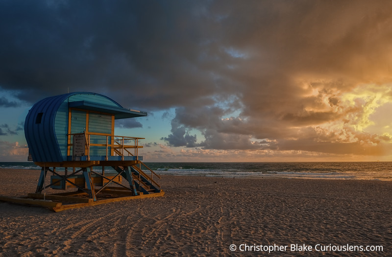 Blue Lifeguard Station - Miami Beach