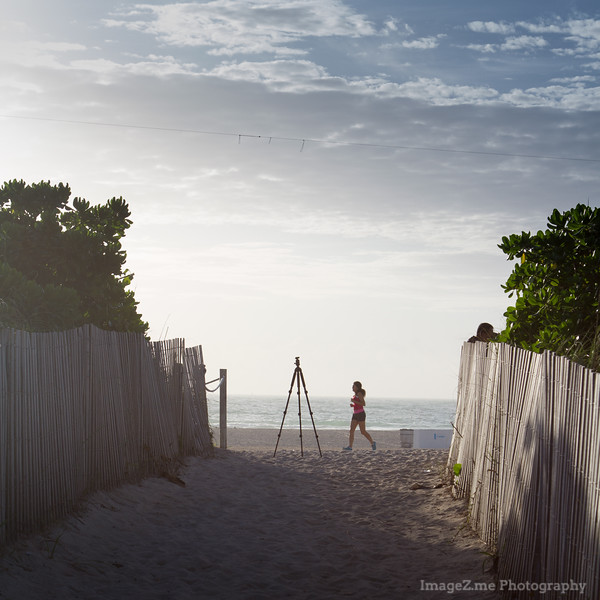 Early morning in Miami South Beach