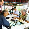 Chess in Domino Park.