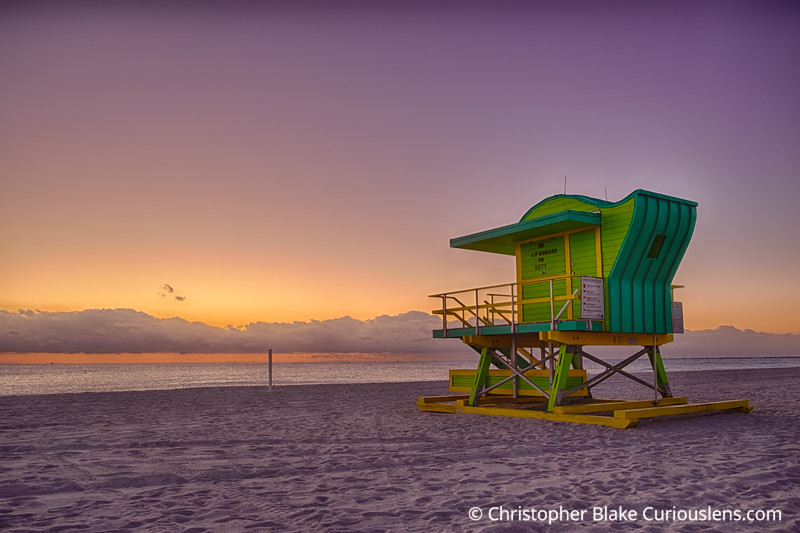 Life Guard Station at Dawn