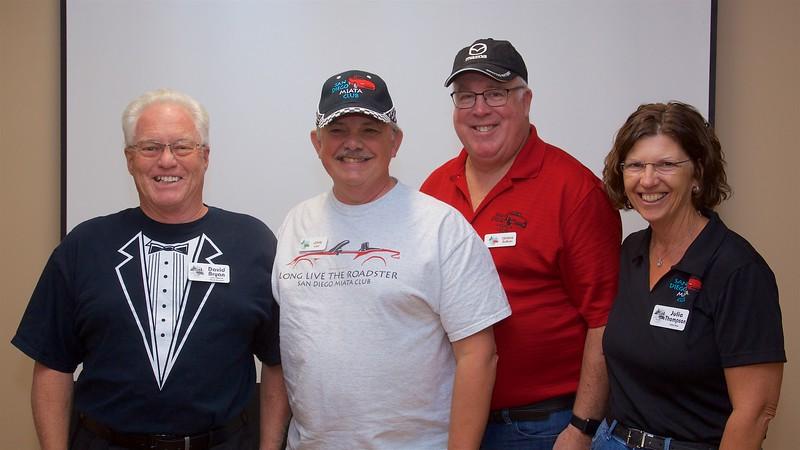 2019 Board of Directors (L-R): President David Bryan, Vice-President John Lord, Treasurer Dennis Sullivan, Secretary Julie Thompson