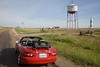 The Leaning Water Tower in Groom, TX.  The owner of the former truck stop at this location, intentionally made the Water Tower lean just to attract business.