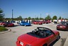 There were over 100 Miatas total in the lot.  One group was heading for Motorsports Ranch.  Our group (45 Miatas) headed to the Fort Worth Stockyards.