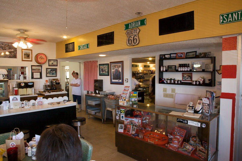 The MidPoint Cafe was one of the highlights of our Route 66 road trip.  We plan to stop there on the way home.