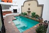 One of the outdoor spas at the El Rey Motel.