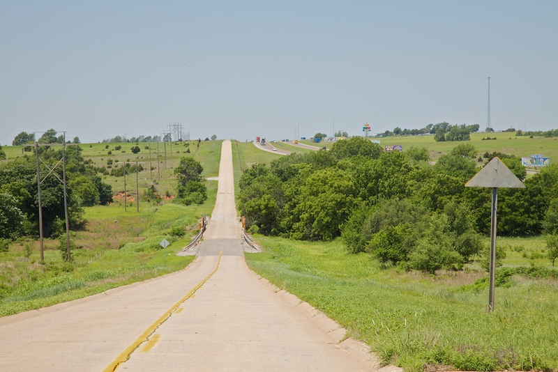 More of that beautiful Route 66 Portland Concrete crossing Oklahoma.