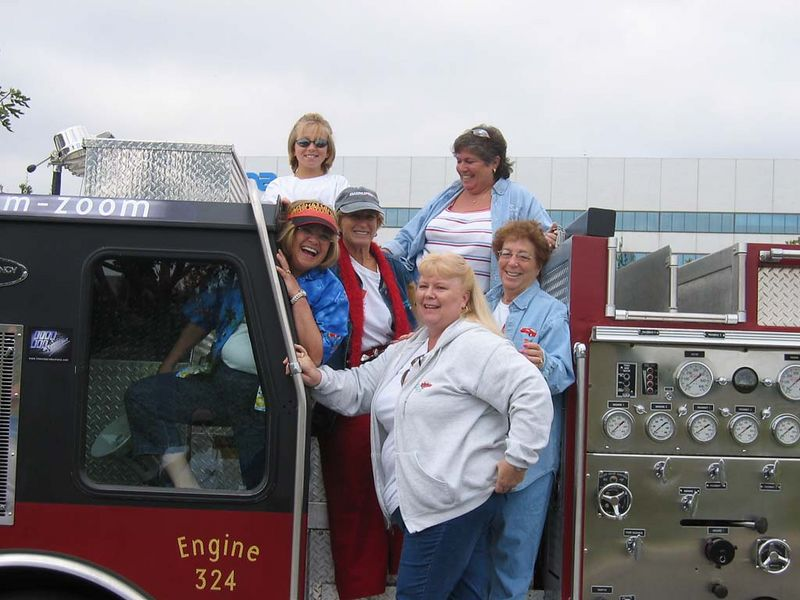 Several SDMC gals ham it up on the fire truck!