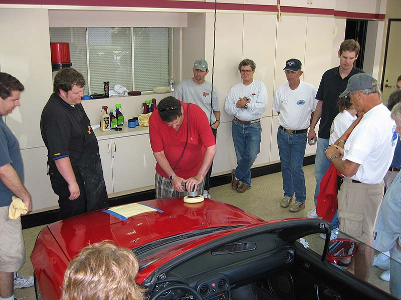 Members were given a chance to try the Dual-Action Polisher for themselves.