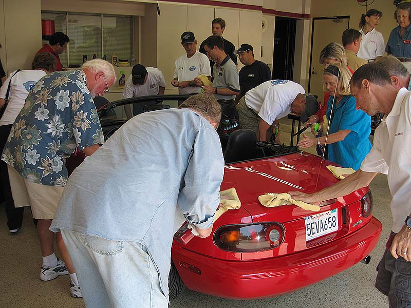 """The garage portion of the instruction was truly """"hands on"""" for everyone."""
