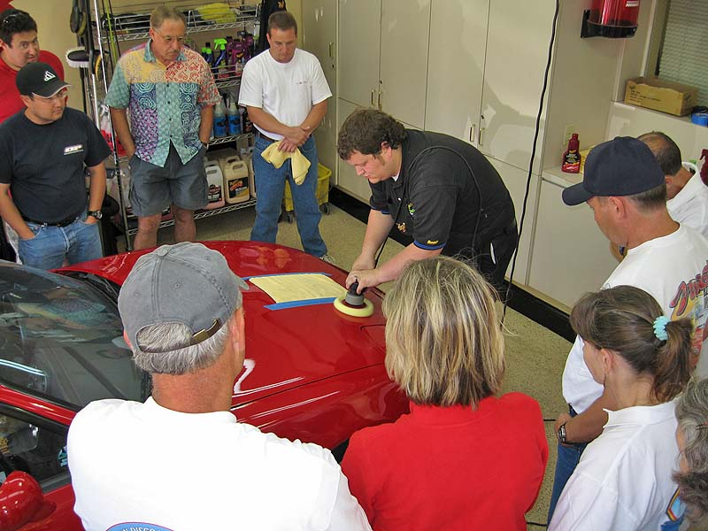 Tim demonstrates the proper use of Meguiar's Dual-Action Polisher and proper application of various machine-applied products.
